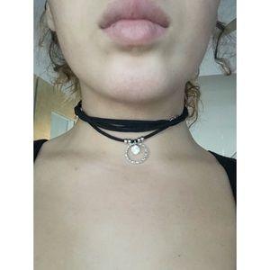 Black Wrap Around Boho Choked Necklace